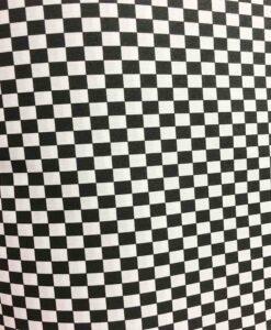 Geruite polyester katoenen stof