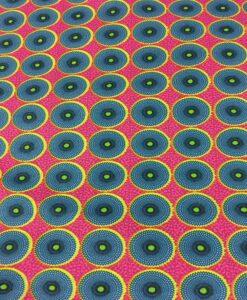 Tissu coton style Wax Africain batik rouge