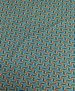 Katoen Stof Wax Afrikaanse stijl turquoise kita
