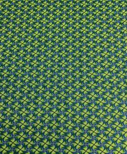 Хлопок стиль ткани Wax африканский зеленый Kita