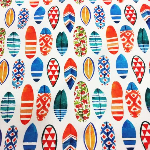 Tissu coton surf
