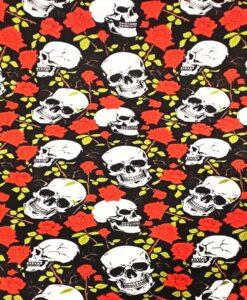 Tissu coton tête de mort