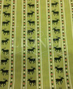 Tissu coton tilleul motif imprimé cerf