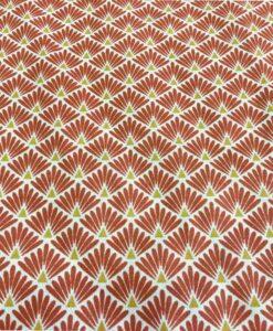 Tissu coton triangle rouge briquet