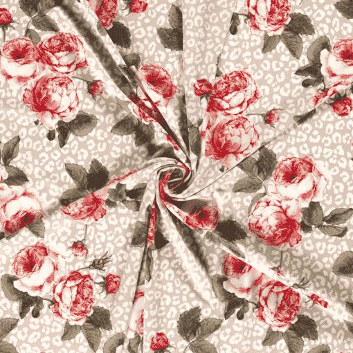 Tissu crêpe grand rose 2