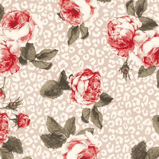 Tissu crêpe grand rose