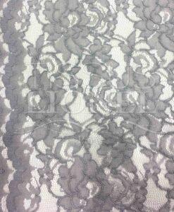 pizzo smerlato tessuto cucito grigio