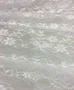 white lycra leavers lace Fabric