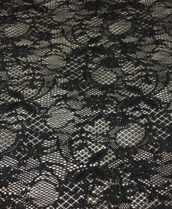 black lycra leavers lace Fabric