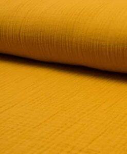 Tissu double gaze safran