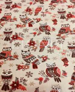 BAUMWOLLE OWL Beige Weihnachts