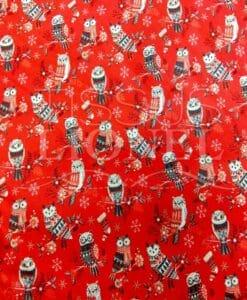 Хлопок Ткань Рождество Owl
