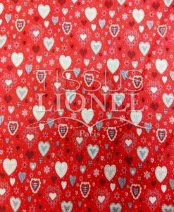 Tissu en coton I love Noël