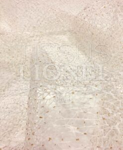ecru net oro tessuto glitterato