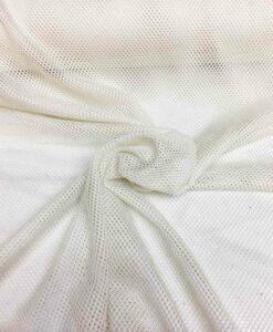 Tessuto a rete in poliestere bianco