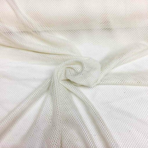 Tissu filet polyester blanc