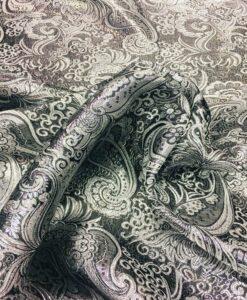 tejido jacquard negro y plata lurex 2