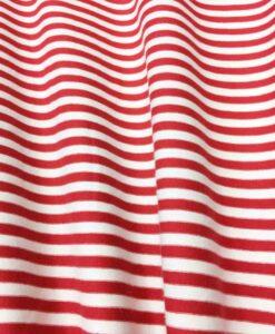 красный белый полосатый хлопок трикотаж ткани