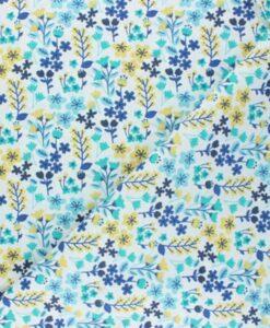 Tissu coton milly bleu
