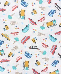 Tissu jersey de coton petite voiture