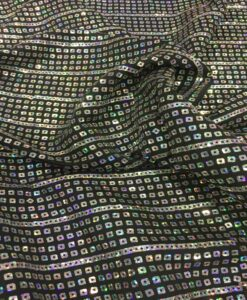 stitched black hologram sequin jersey fabric