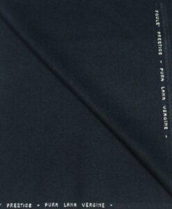 Navy blue wool fabric mottled prestige crowd