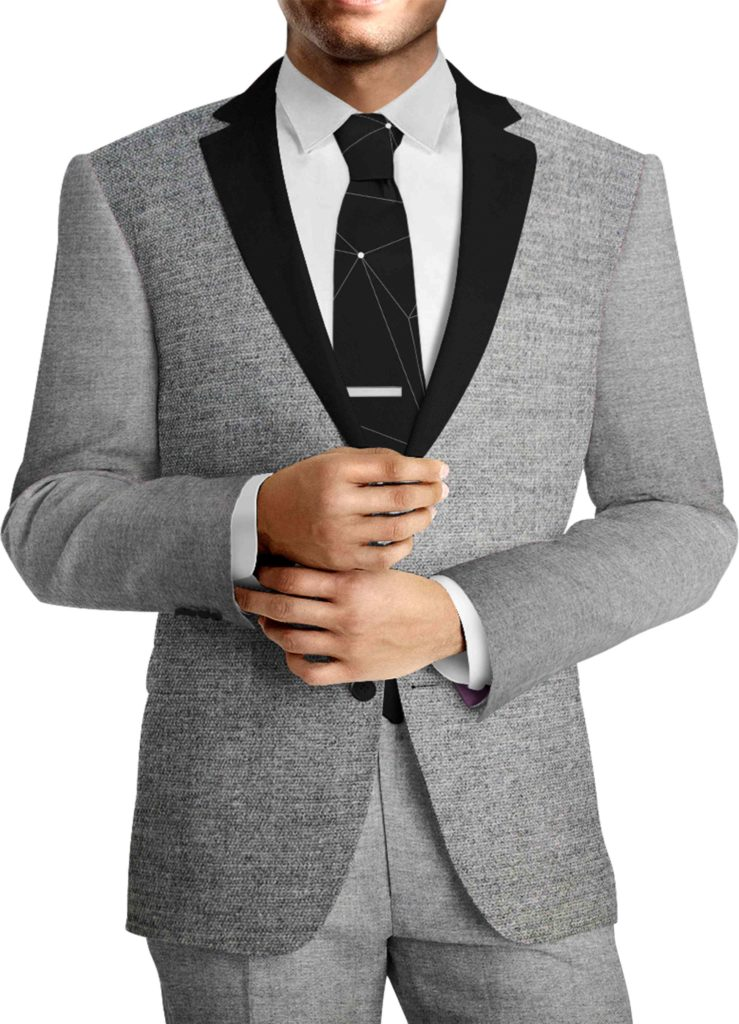 Tissu lainage gris by Carlo Barbera costume