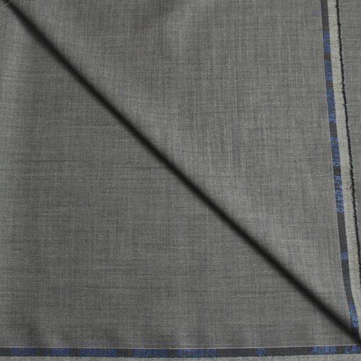 Tissu lainage gris fil à fil pure laine