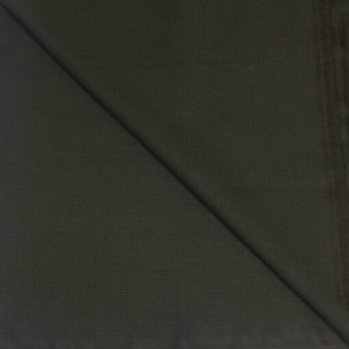 Tissu lainage gris vert kaki