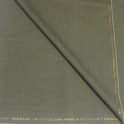 Tissu lainage kaki by Loro Piana
