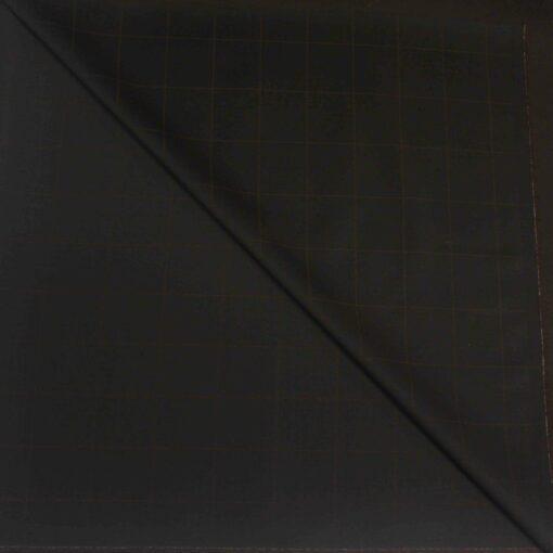 Tissu lainage noir à carreaux