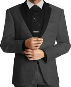 Tissu lainage noir by Loro Piana costume