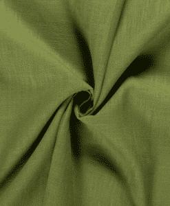 Tissu lin olive verte