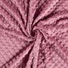 Tissu minky rose foncé