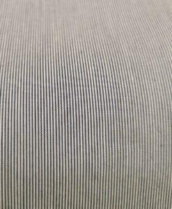Tissu polycoton bleu rayure fine