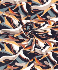 Tissu Polyester abstrait marine