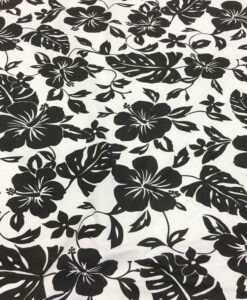 hawaii tessuto popeline di cotone nero