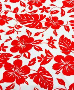 Ткань хлопок поплиновые красный Гаваи