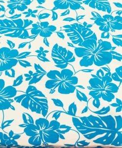 Ткань Гавайских бирюзовый хлопок поплин