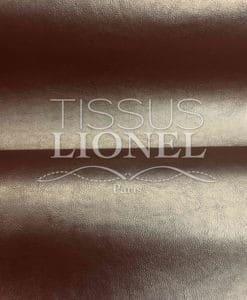 Tissu simili cuir or chaud