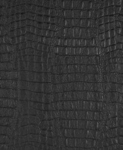 Tissu simili cuir serpent noir