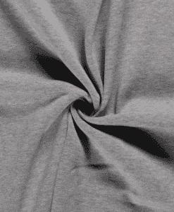 Tissu sweat molleton gris clair
