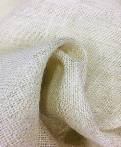 Ecru ткань мешковина с люрексом