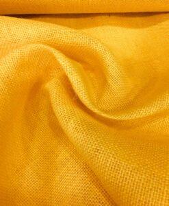 tela de la arpillera amarillo