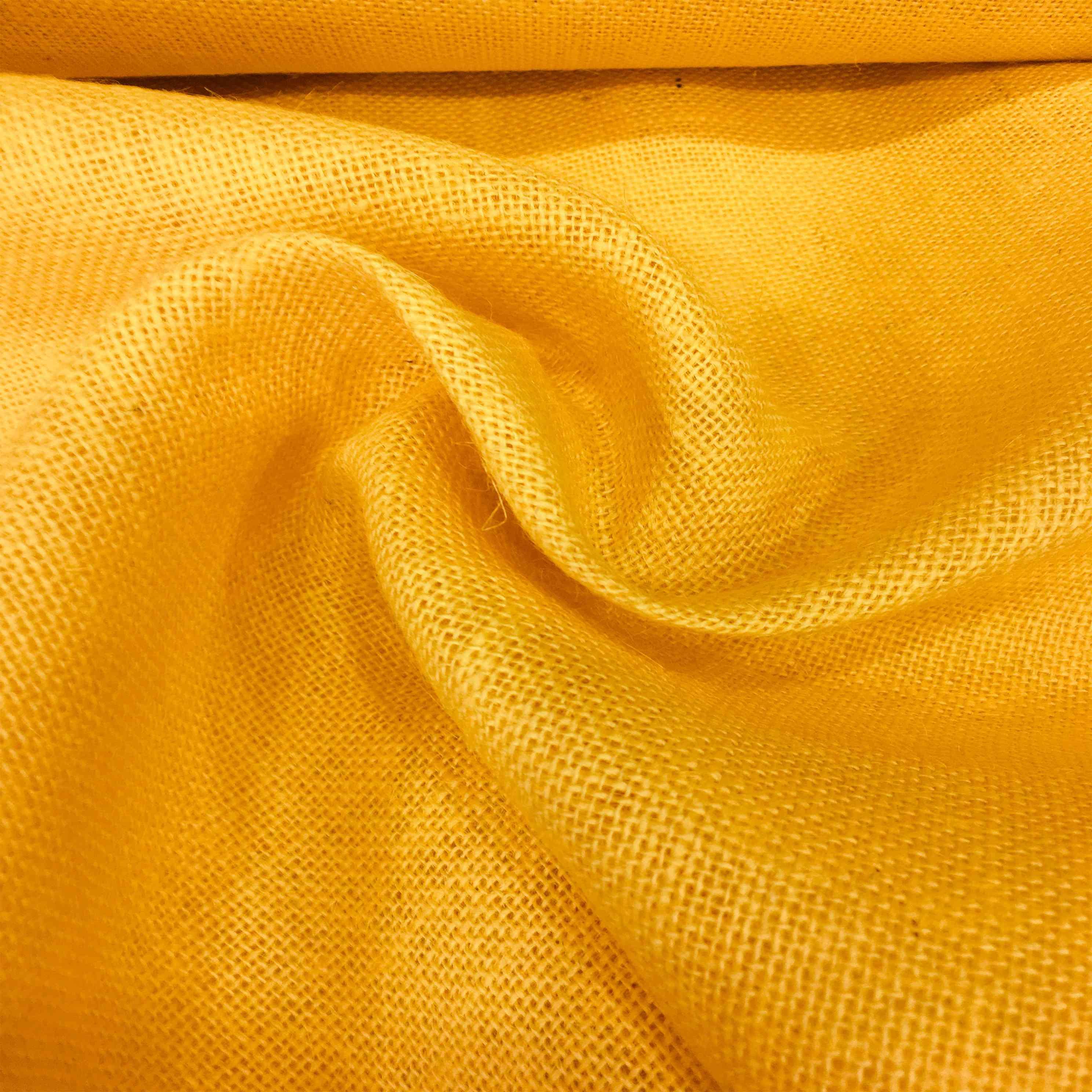 tissu toile de jute jaune tissus lionel. Black Bedroom Furniture Sets. Home Design Ideas