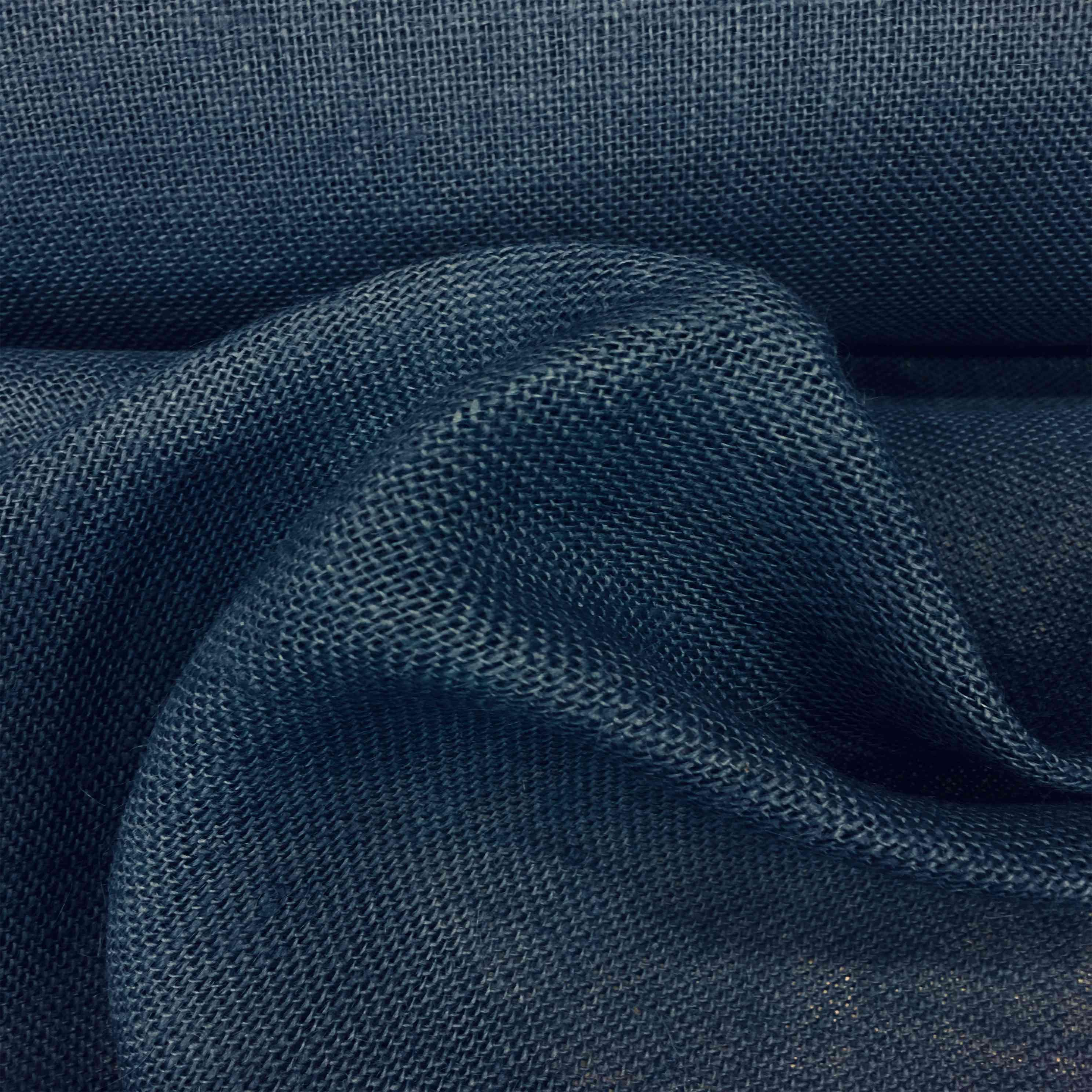 tissu toile de jute marine tissus lionel. Black Bedroom Furniture Sets. Home Design Ideas