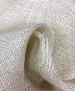 yute natural tela con lurex