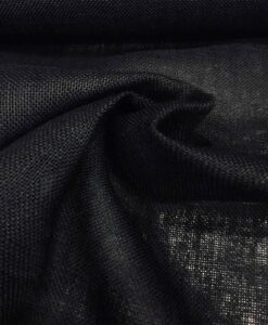Tissu toile de jute noir
