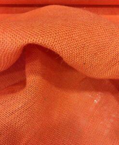 Stof oranje jute