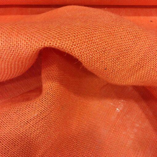 Tissu toile de jute orange